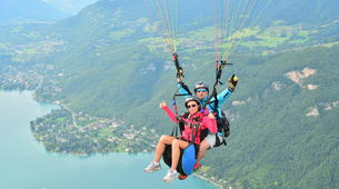 Paragliding-Annecy-Tandem paragliding flight above Lake Annecy-5