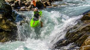 Canoë-kayak-Alagna Valsesia-Private kayaking lessons down Sesia River near Alagna Valsesia-5