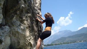 Rock climbing-Arco-Deep Water Soloing in Arco near Lake Garda-3