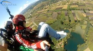 Paragliding-Ioannina-Tandem paragliding flight over Ioanina Lake, Greece-5