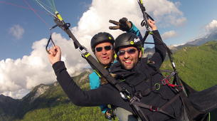 Paragliding-Annecy-Tandem paragliding flight above Lake Annecy-2