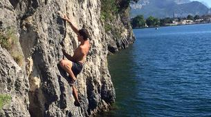 Rock climbing-Arco-Deep Water Soloing in Arco near Lake Garda-1