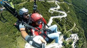 Paragliding-Ioannina-Tandem paragliding flight over Ioanina Lake, Greece-2