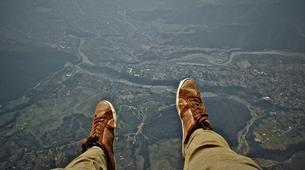 Paragliding-La Clusaz, Massif des Aravis-Tandem paragliding flight over La Clusaz, Haute Savoie-4