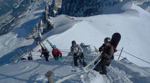 Backcountry Skiing-Chamonix Mont-Blanc-Chamonix Vallee Blanche downhill skiing-2