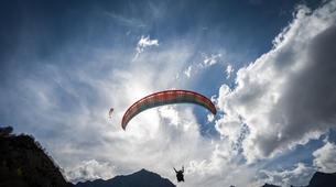Paragliding-La Clusaz, Massif des Aravis-Tandem paragliding flight over La Clusaz, Haute Savoie-6