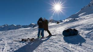 Paragliding-Val Thorens, Les Trois Vallées-Winter tandem paragliding in Val Thorens-3