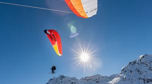 Paragliding-Val Thorens, Les Trois Vallées-Winter tandem paragliding in Val Thorens-15
