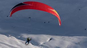 Paragliding-Val Thorens, Les Trois Vallées-Winter tandem paragliding in Val Thorens-14