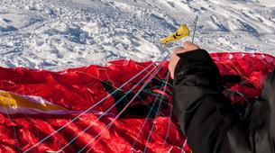 Paragliding-Val Thorens, Les Trois Vallées-Winter tandem paragliding in Val Thorens-8