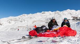 Paragliding-Val Thorens, Les Trois Vallées-Winter tandem paragliding in Val Thorens-17