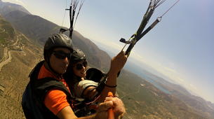 Paragliding-Delphi-Tandem paragliding flight in the Gulf of Itea at 2000m, Greece-6
