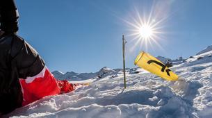 Paragliding-Val Thorens, Les Trois Vallées-Winter tandem paragliding in Val Thorens-11