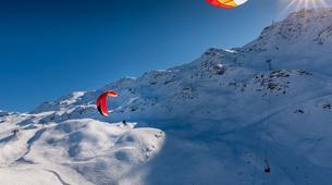 Paragliding-Val Thorens, Les Trois Vallées-Winter tandem paragliding in Val Thorens-2