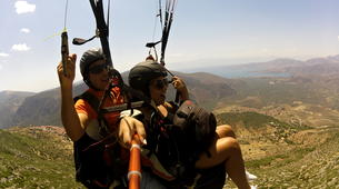 Paragliding-Delphi-Tandem paragliding flight in the Gulf of Itea at 2000m, Greece-2