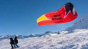 Paragliding-Val Thorens, Les Trois Vallées-Winter tandem paragliding in Val Thorens-10
