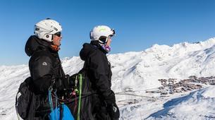 Paragliding-Val Thorens, Les Trois Vallées-Winter tandem paragliding in Val Thorens-7