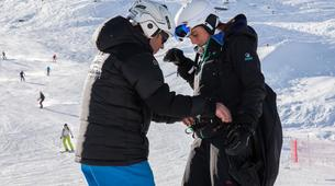 Paragliding-Val Thorens, Les Trois Vallées-Winter tandem paragliding in Val Thorens-1