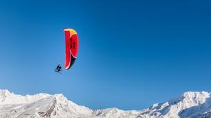 Paragliding-Val Thorens, Les Trois Vallées-Winter tandem paragliding in Val Thorens-13