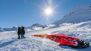 Paragliding-Val Thorens, Les Trois Vallées-Winter tandem paragliding in Val Thorens-6