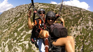 Paragliding-Delphi-Tandem paragliding flight in the Gulf of Itea at 2000m, Greece-3