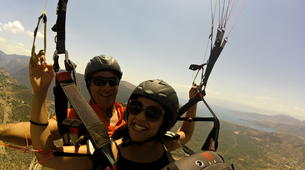 Paragliding-Delphi-Tandem paragliding flight in the Gulf of Itea at 2000m, Greece-5