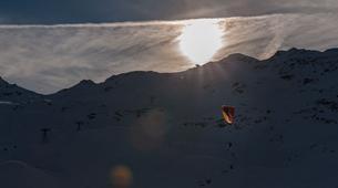 Paragliding-Val Thorens, Les Trois Vallées-Winter tandem paragliding in Val Thorens-16