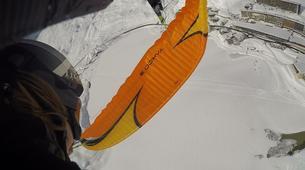 Paragliding-Tignes, Espace Killy-Winter paragliding tandem flight in Tignes-4