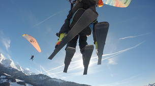 Paragliding-Le Grand-Bornand, Massif des Aravis-Winter tandem paragliding flight over Le Grand-Bornand-6
