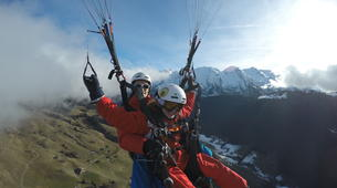 Paragliding-Le Grand-Bornand, Massif des Aravis-Winter tandem paragliding flight over Le Grand-Bornand-5