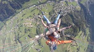 Paragliding-Le Grand-Bornand, Massif des Aravis-Tandem paragliding flight over Le Grand-Bornand-4
