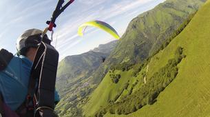 Paragliding-Pyrénées Atlantiques-Tandem paragliding flight in Accous over the Pyrenees National Park-5