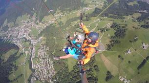 Paragliding-Le Grand-Bornand, Massif des Aravis-Tandem paragliding flight over Le Grand-Bornand-2