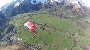 Paragliding-Pyrénées Atlantiques-Tandem paragliding flight in Accous over the Pyrenees National Park-4