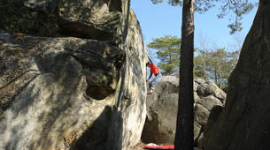 Rock climbing-Fontainebleau-Bouldering coaching in Fontainebleau with pro climber Christophe Bichet-2
