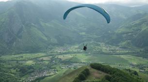 Paragliding-Pyrénées Atlantiques-Tandem paragliding flight in Accous over the Pyrenees National Park-3