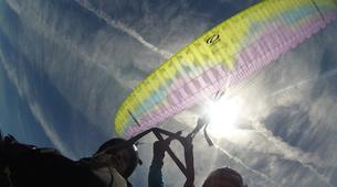 Paragliding-Pyrénées Atlantiques-Tandem paragliding flight in Accous over the Pyrenees National Park-6