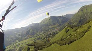 Paragliding-Pyrénées Atlantiques-Tandem paragliding flight in Accous over the Pyrenees National Park-2