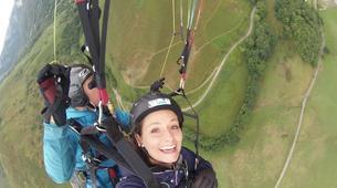 Paragliding-Pyrénées Atlantiques-Tandem paragliding flight in Accous over the Pyrenees National Park-1