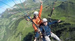 Paragliding-Le Grand-Bornand, Massif des Aravis-Tandem paragliding flight over Le Grand-Bornand-1
