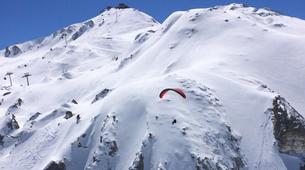 Paragliding-Tignes, Espace Killy-Winter paragliding tandem flight in Tignes-6