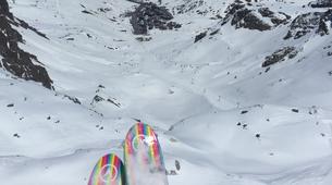 Paragliding-Tignes, Espace Killy-Winter paragliding tandem flight in Tignes-5