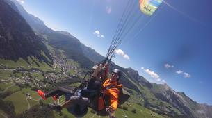 Paragliding-Le Grand-Bornand, Massif des Aravis-Tandem paragliding flight over Le Grand-Bornand-3