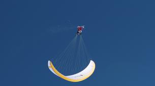 Paragliding-Tignes, Espace Killy-Winter paragliding tandem flight in Tignes-1