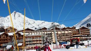 Paragliding-Tignes, Espace Killy-Winter paragliding tandem flight in Tignes-3