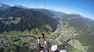 Paragliding-Le Grand-Bornand, Massif des Aravis-Tandem paragliding flight over Le Grand-Bornand-5