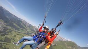 Paragliding-Le Grand-Bornand, Massif des Aravis-Tandem paragliding flight over Le Grand-Bornand-6