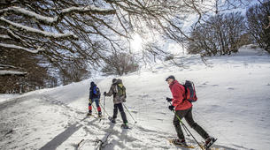 Snowshoeing-Le Lioran-Snowshoeing around Le Lioran (Cantal)-2
