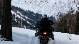 Snowmobiling-Ponte di Legno-Snowmobile night excursion with typical dinner in Ponte di Legno-4