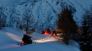Snowmobiling-Ponte di Legno-Snowmobile night excursion with typical dinner in Ponte di Legno-1